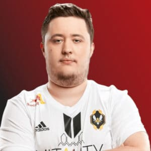 Portrait of ZywOo wearing a vitality jersey