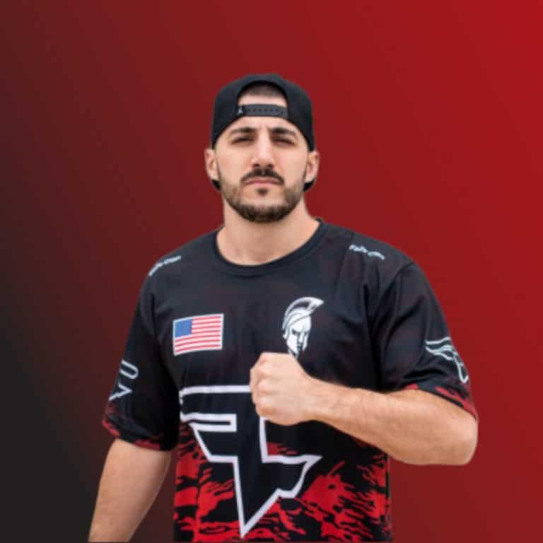 Portrait of Nickmercs wearing a jersey
